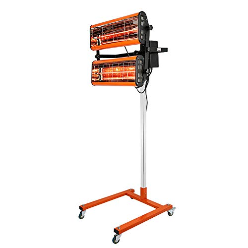 Mobiler IR Strahler Lacktrockner Infrarot Trockner 2 Lampe Infrarotstrahler 1000W mit Timer Infrarotheizung Lampe Auto Lackierung Werkzeug