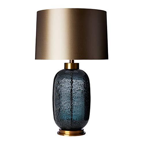 Lampara Mesilla Iluminación textura de burbujas vidriada Tabla dormitorio de la lámpara lámpara de cabecera Hotel de lujo Sala de estar Vestíbulo post-moderno, con tela de la cortina Lámparas de escri