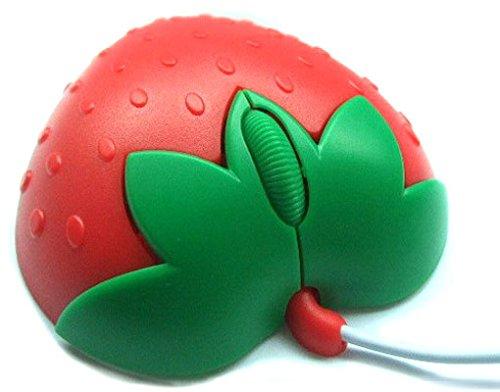 Optische Mini Maus, Fantasie-Erdbeere Rot, USB, für PCs, Notebooks & GE62 Lenovo MSI S41 2QF APaCHE PRO-DURAGADGET