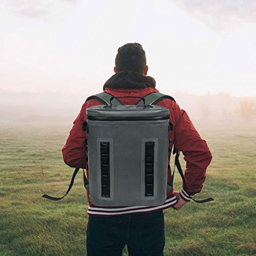 WLAY 20L draagbare draadloze koelkast met ijszak rugzak outdoor klimtas thermostaat incubator medische omgeving waterdichte tas, donkergrijs