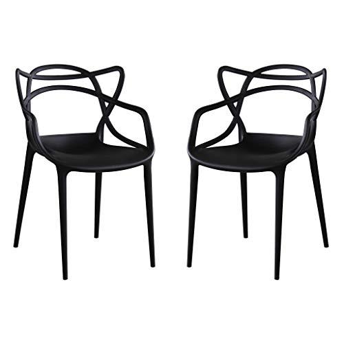 Milani Home s.r.l.s. Set di 2 sedie in Polipropilene plastica di Alta qualità di Design per Interno e Giardino Stile Moderno per Sala da Pranzo, Cucina