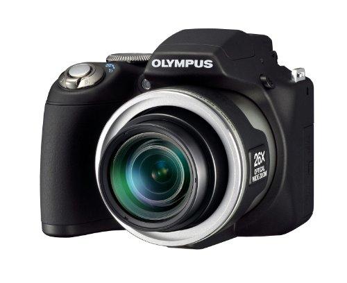 Olympus SP-590UZ Digitalkamera (12 Megapixel, 26-Fach Opt. Zoom, 6,9 cm (2,7 Zoll) Display, Bildstabilisator) schwarz