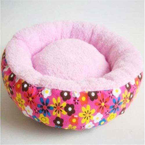 XYBB huisdier bed pluche hond kennel katten huis super zacht katoen matten bank voor hond beste huisdier bed voor kat bed, 60cm, roze