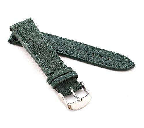 BOB Herren Uhrenarmband Marino Canvas Modell Chrono 20 mm grün/grün