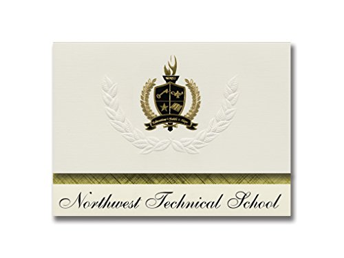Signature Announcements Northwest Technical School (Maryville, MO) Graduation Announcements, Presidential style, Basic package of 25 with Gold & Black Metallic Foil seal -  Signature Announcements, Inc, PAC_BASICPres_HS25_118188_206041