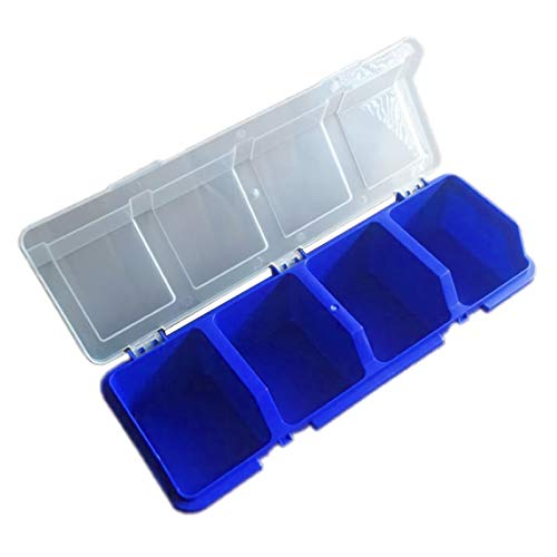 BIlinli Caja de Almacenamiento de Herramientas de plástico con Piezas de Cubierta Caja de Herramientas con Tornillos Componentes de la Caja Organizador de clasificación Soporte