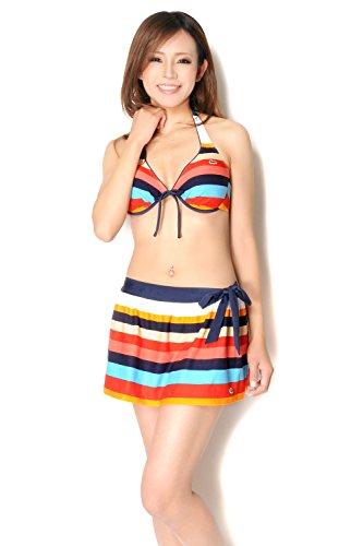 『(ラコステ) LACOSTE スカート付きビキニ水着3点セット sw1399』のトップ画像