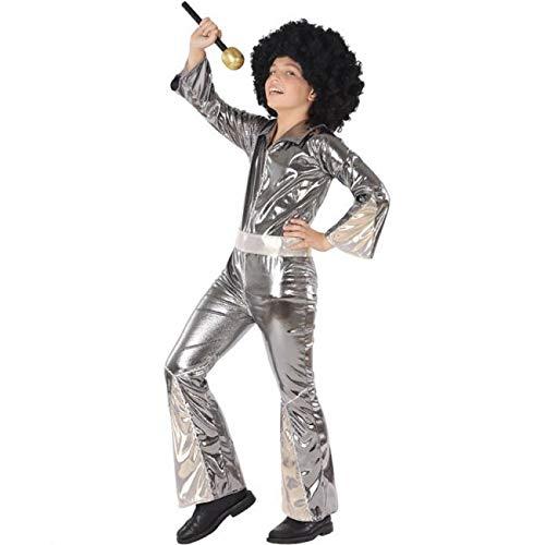 Atosa Disfraz de Disco Plateado para niño 10 a 12 años