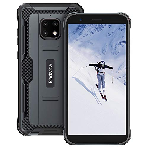 Móvil Resistente, Blackview BV4900 Pro Android 10, 5.7  HD+, 4GB+ 64GB, Batería 5580mAh Teléfono Robusto, IP68 Impermeable Smartphone 4G, 13MP+5MP, Dual SIM, GPS, NFC, OTG- Negro