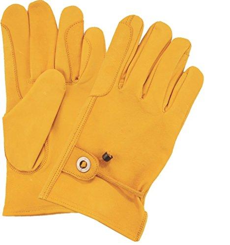 Fuente - Guantes de equitación de piel para mujer y hombre, guantes de deporte, guantes de piel de napa con forro, guantes de conductor de piel de color negro, marrón, amarillo XS-2XL, amarillo, XL
