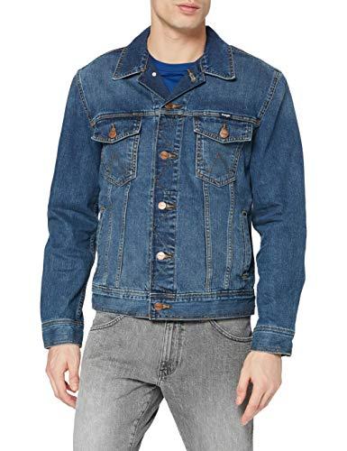 Wrangler Western Denim Jacket, Giacca da Uomo, Blu (Midstone), L