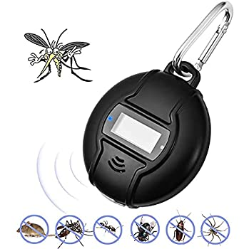 LUBEKAS Anti-Moustiques Portable, Extérieur À Ultrasons Insectifuge-Home Anti-Moustiques Intelligent, Utilisé pour Les Abeilles, Les Moustiques, Les Blattes, Araignées, Mouches