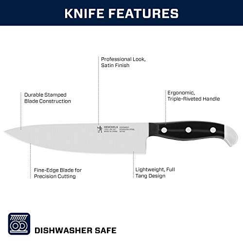 J.A. Henckels International Statement Kitchen Knife Set with Block, 15-pc, Chef Knife, Steak Knife set, Kitchen Knife Sharpener, Light Brown