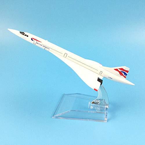FYSKJDG Vorbildliche Dekoration, 16Cm Airways Concorde Metalllegierung Modell Flugzeug Flugzeug Modell Spielzeug Flugzeug Geburtstagsgeschenk Spielzeug