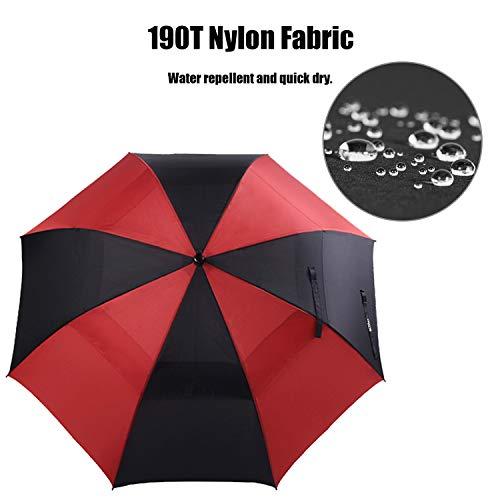ACEIken Golf Umbrella Large 62 Inch Automatic Open Golf Umbrella Extra Large Oversize Double Canopy Vented Umbrella Windproof Waterproof for Men and Women