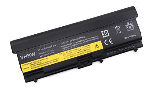 vhbw Li-ION Batterie 6600mAh (10.8V) pour Ordinateur Portable, Notebook Lenovo ThinkPad L520, L530, W510 comme 42T4235.