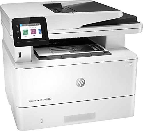 HP LaserJet Pro MFP M428fdw W1A30A, Impresora Láser Multifunción, Imprime, Escanea, Copia y Fax, Wi-Fi, Ethernet, USB 2.0, 1 Host USB, 1 Puerto USB, HP Smart App, Mopria, Pantalla Táctil, Blanca