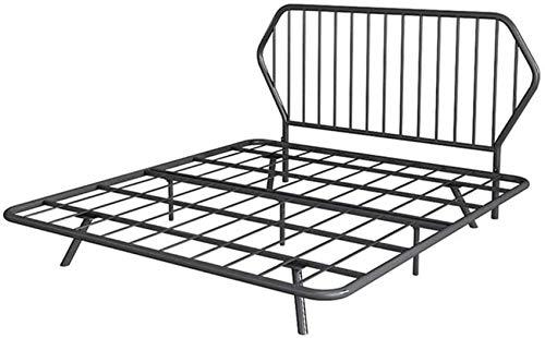 Mnjin Schlafzimmer Bettrahmen Einfacher Metallbettrahmen, modernes Einzelbett im...