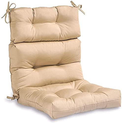 lqgpsx Cojines para sillas mecedoras Antideslizantes,con Respaldo de Relleno de algodón Suave,cojín para Tumbona,cojín para Silla de Exterior con Respaldo Alto para Sala de Estar