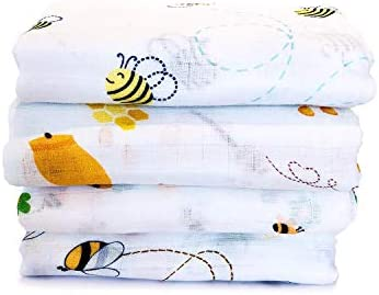 100 Organic Cotton Muslin Baby Swaddle Blankets Soft Muslin Blanket Boys Girls Receiving Blankets product image
