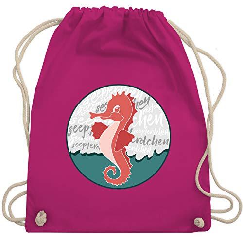 Sport Kind - Seepferdchen Abzeichen - Unisize - Fuchsia - Schwimmer - WM110 - Turnbeutel und Stoffbeutel aus Baumwolle