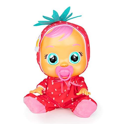 CRY BABIES Tutti Frutti Ella - Bambola Interattiva Profumata alla Fragola con Lacrime Vere