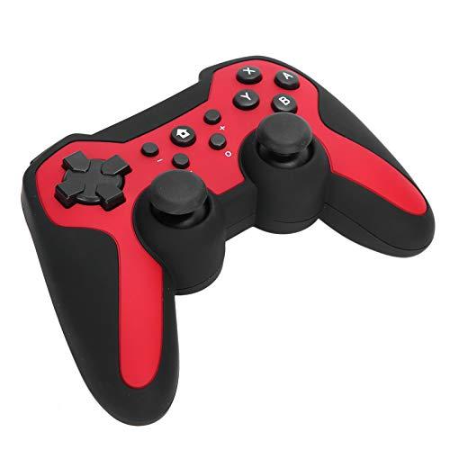FOLOSAFENAR Motores de vibración Dual incorporados con Bluetooth 400 mah Batería de Iones de Litio Controlador de Juegos somatosensorial para PS3, para PC, para Android(Red)