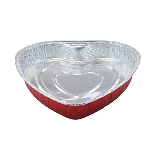 Disposable Aluminum Heart Shaped Baking Pan/Cake Pan/Goodies Pan #339NL (50)