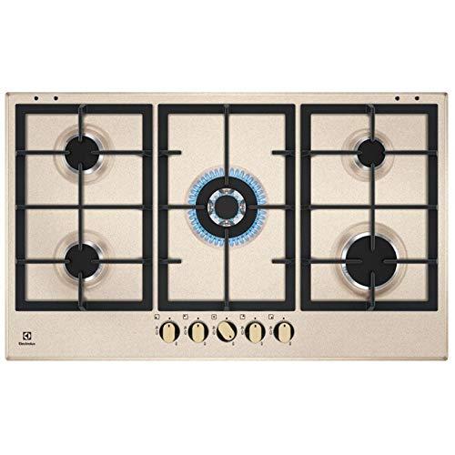 Electrolux KGS9536RS - Piano cottura 5 fuochi da 90 cm colore Sabbia