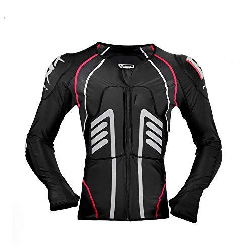 Motorrad Protektorenhemd Unterziehjacke Mit Protektoren, Level 2, Extrem Funktional, Schulter-, Ellbogen- Und Rückenprotektor, Luftig, Atmungsaktiv,Schwarz,M