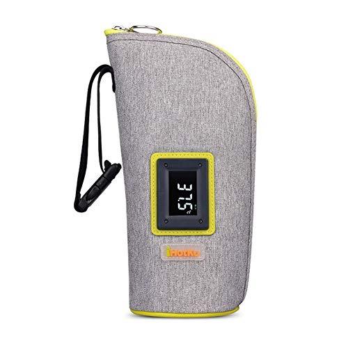 USB-Babyflaschenwärmer, Tragbar Schnell Warm-elektrischer Sterilisator Mit Digitaler Touch 2-Modi Für Anzeige (Color : Gray)