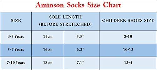 Aminson Grip Ankle Socks – Kids Boys Girls Anti Non SkidSlip Slipper Crew Socks-6/12 Pairs