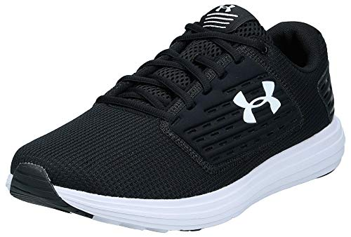 Under Armour Men's Surge Special Edition Running Shoe, Black (001)/White, 8.5