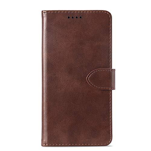 Banaz HNZZ - Funda de piel con tapa horizontal para Samsung Galaxy Note 9, con tarjetero, tarjetero y cartera, color marrón