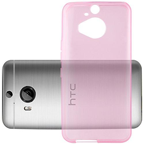 Cadorabo Hülle für HTC ONE M9 Plus (3.Gen.) - Hülle in TRANSPARENT PINK – Handyhülle aus TPU Silikon im Ultra Slim 'AIR' Design - Silikonhülle Schutzhülle Soft Back Cover Hülle Bumper