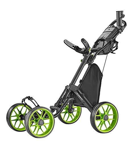 CaddyTek Golfwagen mit 4 Rädern – Caddycruiser One Version 8 1-Click Faltbarer Trolley – leicht, kompakt, leicht zu öffnen, CaddyCruiser ONE Version 8 - Lime, Lime, Einheitsgröße