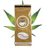 Hemp Coffee 100% Colombian Coffee Blend With Pure Hemp (100% Natural Hemp, THC Free). Ground Coffee, Artizan Coffee Roasters, DARK ROAST (HEMP Coffee, 12 Ounce)