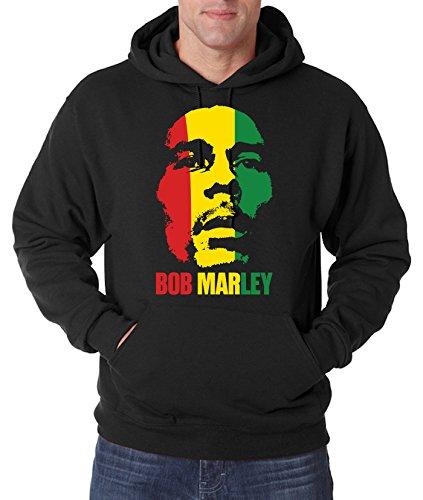 TRVPPY Uomo Maglione Felpa con Cappuccio Hoodie Sweater Modello Bob Marley, Diversi Colori e Taglia