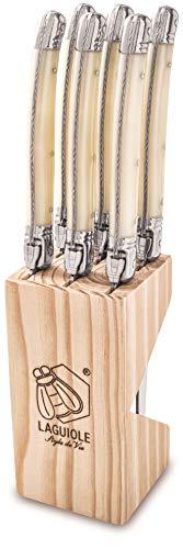 Laguiole Style de Vie Steakmesser Premium Line, 1,8mm Dicke, 6-teilig, Perle