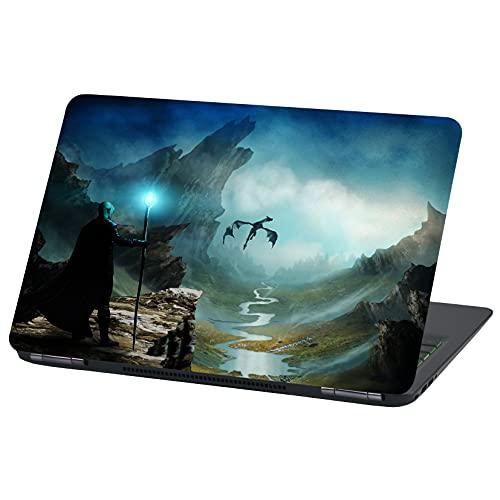 Laptop Folie Cover: Stranger Things Klebefolie Notebook Aufkleber Schutzhülle selbstklebend Vinyl Skin Sticker (13-14 Zoll, LP61 Dragon)