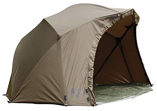 Fox R-Series Brolly 262x178x128cm - Angelzelt zum Karpfenangeln & Wallerangeln, Karpfenzelt zum Angeln, Schirmzelt zum Nachtangeln