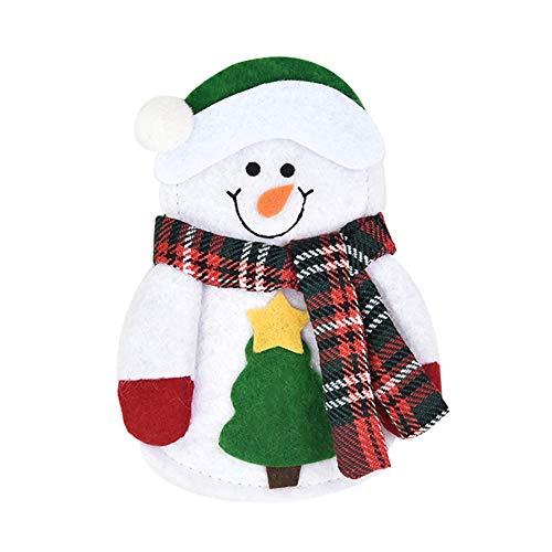 TanithM Bestecktasche Besteckbeutel Weihnachten Geschirr Halter Messer Gabeln Tasche Weihnachten Messer Löffel Gabel Taschen Geschirr Besteckhalter Weihnachten Tischdekoration