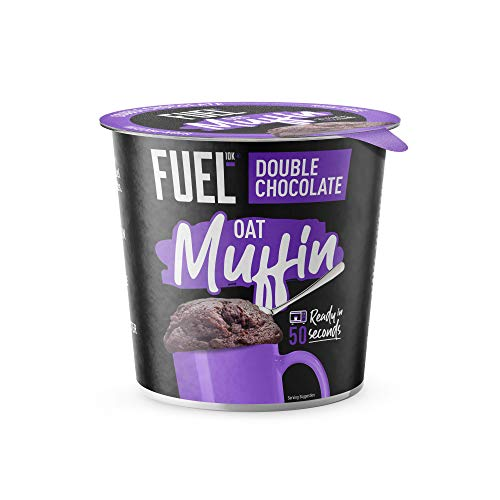 FUEL10K Oat Muffin Pots, Double Chocolate - 8x60g - High Protein On The Go Breakfast