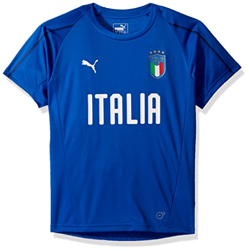 PUMA Youth Italy Official Training Jersey Large, Team Power Blue/PUMA White