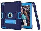 HyFone Funda para iPad 2 3 4 - Robusto Anti Caída Duradero Resistente Protector de Cuerpo Completo Case Cover para iPad A1395 A1396 A1397 A1416 A1430 A1403 A1458 A1459 A1460 - [Azul Marino/Azul]