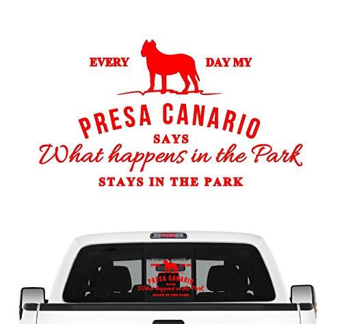 Siviwonder Presa Canario Vintage Hundeaufkleber Hundemotiv Auto Folie Perro Molosser Dogge Farbe Rot, Größe 20cm