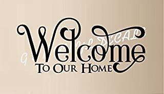 Welcome to Our Home Vinyl Wall Decal Sticker Home Decor Wall Letters 12