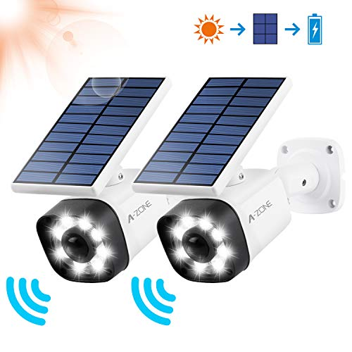 Solar Lights Outdoor, LED Wireless Motion Sensor Lights, Solar Lights Outdoor Motion Sensor Easy-to-Install Security Lights for Outdoor Garden, Patio, Yard, Deck, Garage, Driveway, Fence 2 Pack