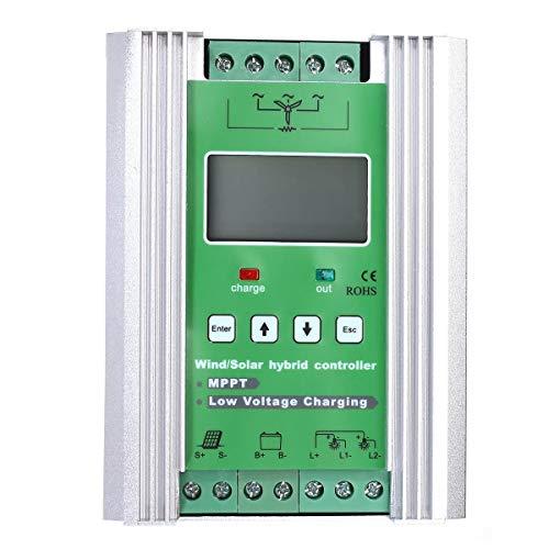 JeanPolly Herramientas del generador LCD 600W 12V / 24V Rejilla MPPT del Viento Solar híbrido Controlador de Carga Solar 500W Booster Carga de la Descarga