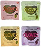 OLOVES Natural Pitted Olives Variety Pack of 40 - Gluten-Free Vegan Kosher Basil & Garlic, Chili & Oregano, Lemon & Rosemary, Chili & Garlic (40-Pack) BEST VALUE!